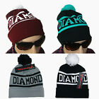 Hip-hop Ball beanie Cap Winter Women Men Diamond Knit Warm Crochet Slouch Style