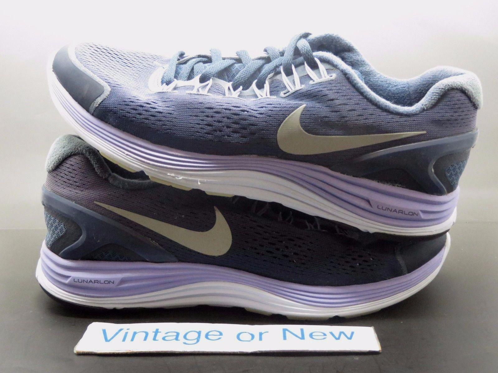 Women's Nike Lunarglide+ 4 Purple Medium Violet Silver Running 524078-406 sz 9