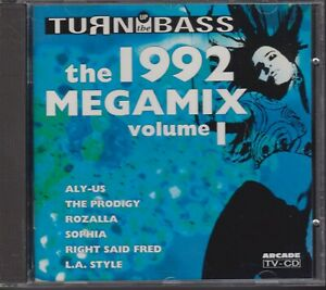 THE-1992-MEGAMIX-volume-1-CD-TURN-UP-THE-BASS