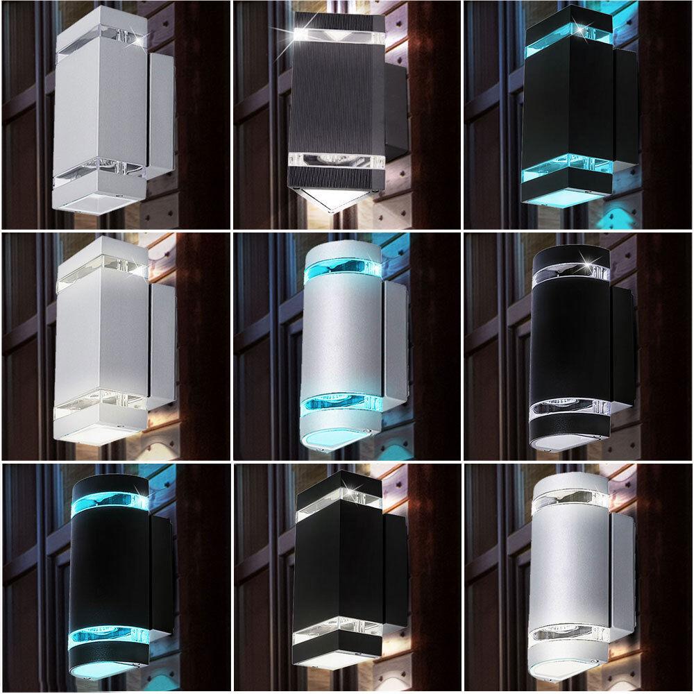 Extérieur lampe spot LED mur UP DOWN ALU verre IP44  RGB dimmable télécommande