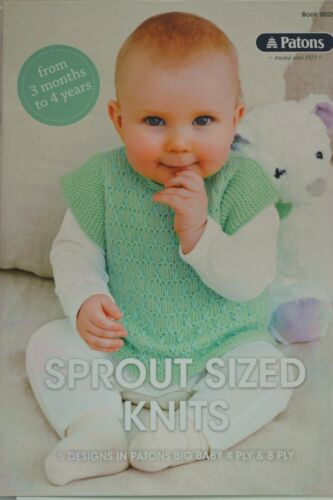 PATONS BIG BABY 4 /& 8 ply 3 month to 4 years SPROUT SIZE KIDS