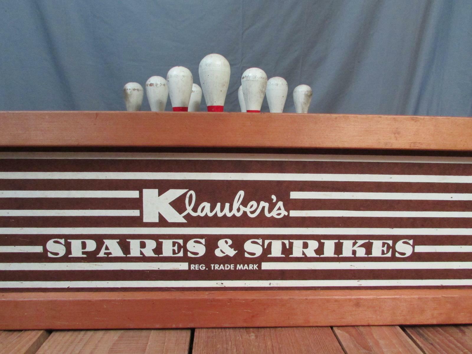 Vintage Antik Bowling Jagen Jagen Jagen Klaubers Ersatzteile & Strikes Holz Bälle 10 Selten cccda9