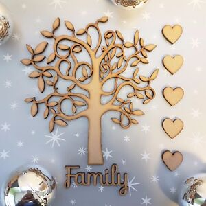 Wooden-MDF-Family-Tree-Shape-blank-Family-Tree-Guestbook-Crafting-Hearts-Family