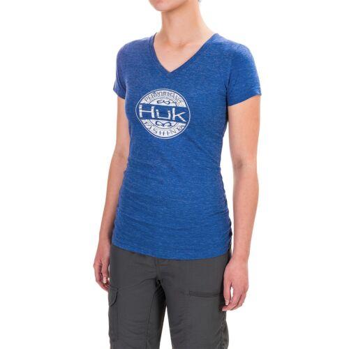 Huk Oval V-Neck T-Shirt Short Sleeve For Women NWT  $25