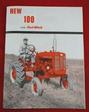 Ih Mccormick Farmall 100 With Fast Hitch Tractor Amp Implement Color Brochure 24pgs