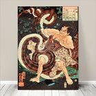 "Vintage Japanese SAMURAI Warrior Art CANVAS PRINT 8x10""~ Kuniyoshi #257"