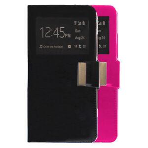 Funda-libro-ventana-Xiaomi-redmi-note-4x-protector-cristal-templado-opcional