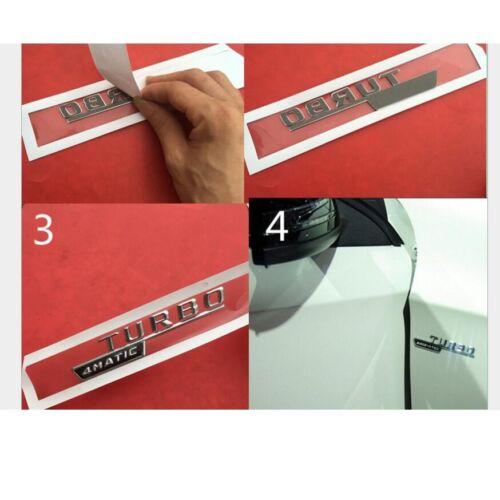 Black Red BITURBO 4MATIC Letters Fender Badges Emblems for Mercedes Benz AMG