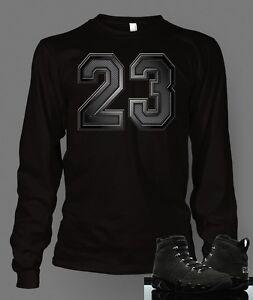 eba7ea09 Custom T-shirt To match retro 9 anthracite Jordan S-7XL Black Long ...