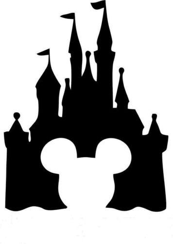 p1908 Castillo De Disney Mickey Pegatina Sticker Vinilo Coche Adhesivo Moto