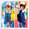 New top Pokemon Ash Ketchum Trainer Costume Shirt Jacket +gloves+hat / Hot