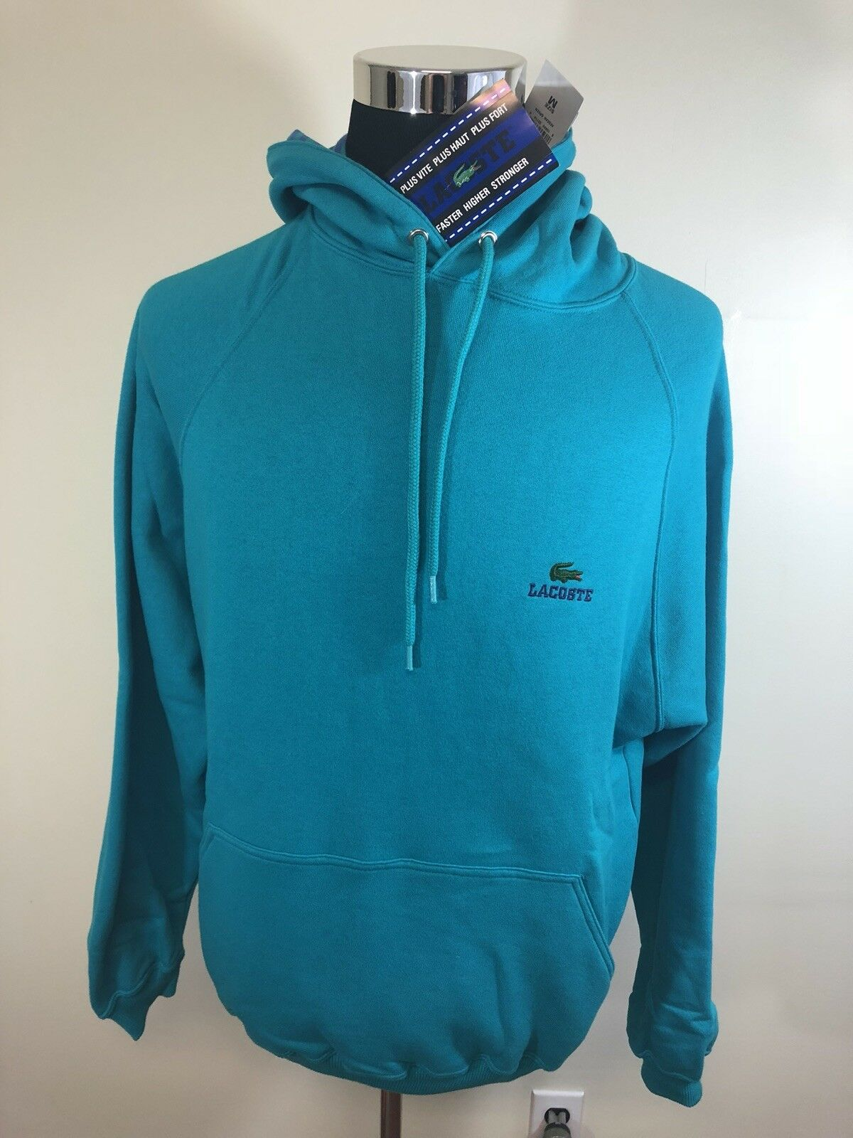 NWT Vintage 1990's Izod Lacoste Hoodie Sweatshirt - Size Medium- New VTG RARE