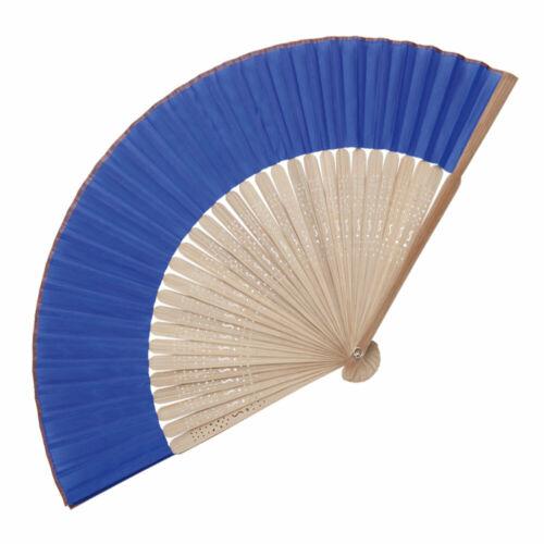 Wedding Party Bag Favour Filler Folding Bamboo Hand Held Fan Wooden Hand Fans