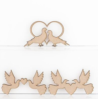 Wooden MDF Bride and Groom Love Couple Sign Plaque Wedding Decoration 3mm Thick