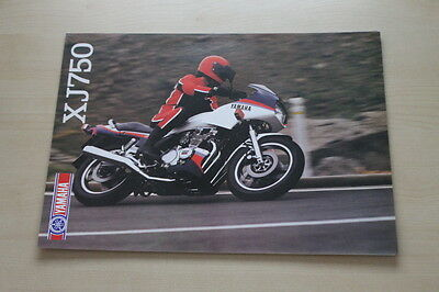 100% QualitäT 170519) Yamaha Xj 750 Prospekt 1984