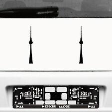 2 Stück 20cm schwarz Fernsehturm Funkturm Berlin Aufkleber Tattoo Deko Folie