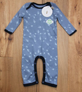 c07fda0a40d Burt s Bees Baby Boy Coverall ~ Organic Cotton ~ Blue ~ Bee Print ...