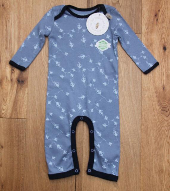 Zip-up Sleeper Organic Cotton Footie 3-6 m Burt/'s Bees Baby Boy Girl Pajamas