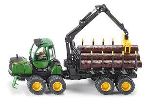 Siku-4061-John-Deere-Forwarder-Forstwirtschaft-Modell-Fahrzeug-Traktor-Anhaenger