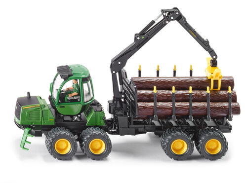 Siku 4061 John Deere reenvío silvicultura modelo vehículo tractor remolque