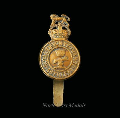 R. F. A. . THE ROYAL DEVONSHIRE YEOMANRY. BRITISH ARMY CAP BADGE