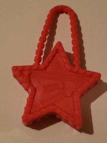 Barbie doll RED STAR shaped barbie doll purse