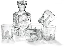 Whiskey Decanter Bottle Glass Set 7 Piece Barware Drinking Gift Bormioli Rocco