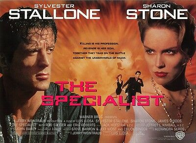 THE SPECIALIST movie poster SYLVESTER STALLONE, SHARON STONE - 12 x 16 inches