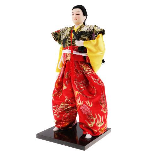 MagiDeal Japanese Samurai Doll Warrior Figurine Miniature Home Decor 30CM #6