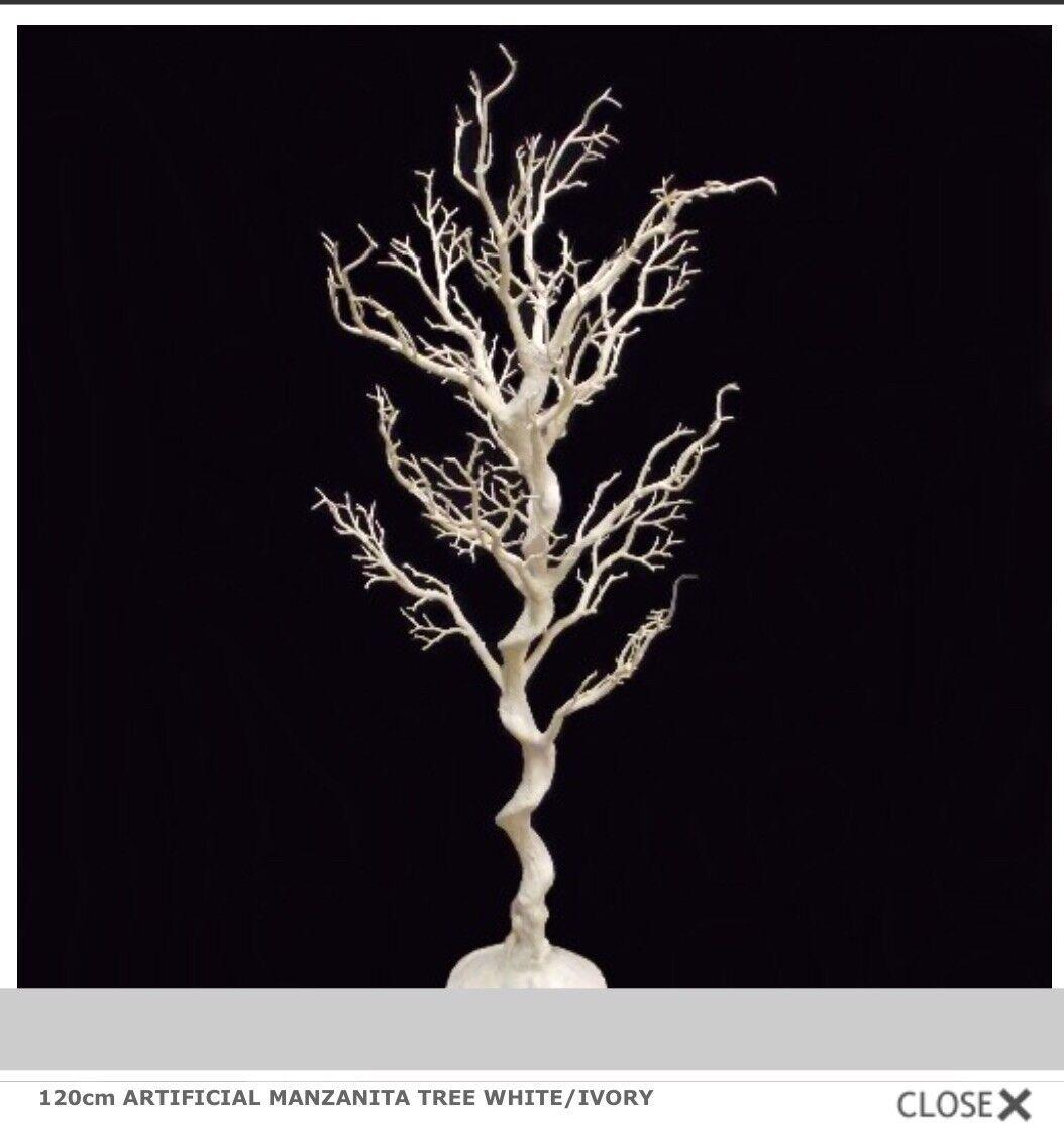 10 X Weiß   ivory ivory ivory Artificial Manzanita Wedding Wishing Tree Centrepiece 120cm ad0d19