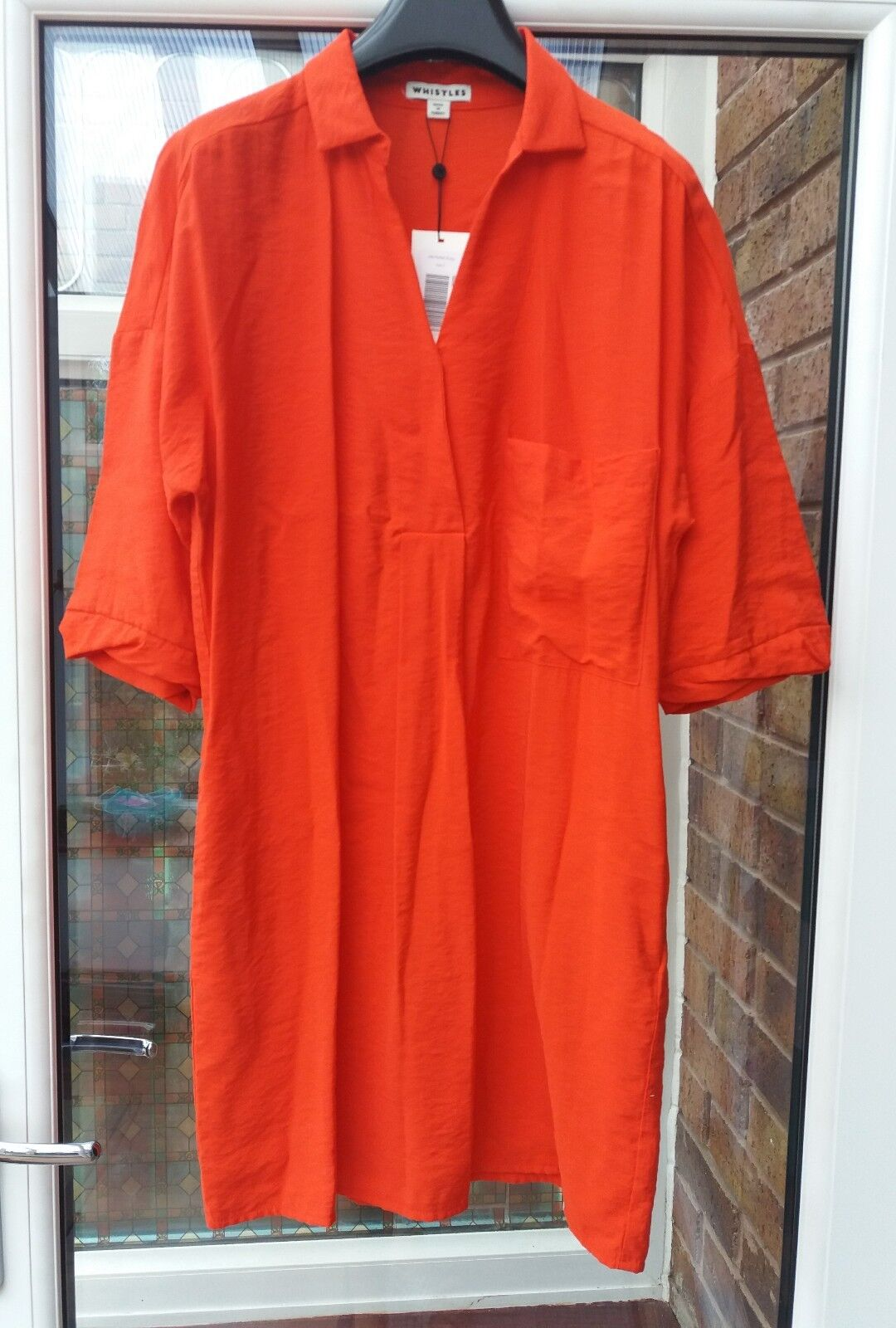 BNWT Whistles Lea Pocket Dress rot S rrp