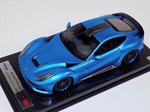 Details About 1 18 Meko Ferrari F12 N Largo Novitec Rosso Met Blue Carbon Base Bbr Or Mr