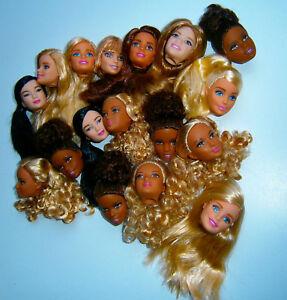 Barbie Mattel Doll Made to move Grace Kayla Lea Nikki Fashionistas Head Kopf