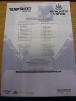 23/07/2005 Colour Teamsheet: Newcastle United v ZTS Dubnica [Friendly] (folded).