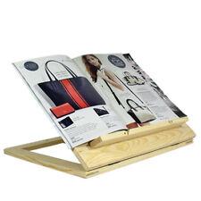 Adjustable Ipad Kindle Tablet Stand Wooden Foldable Cook Book Holder Bracket