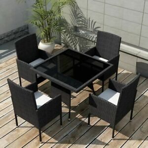 Vidaxl Essgruppe 9 Tlg Poly Rattan Gartenmöbel Set Sitzgruppe