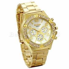 New Fashion Women Ladies Girl Stainless Steel Band Analog Quartz Wrist Watch