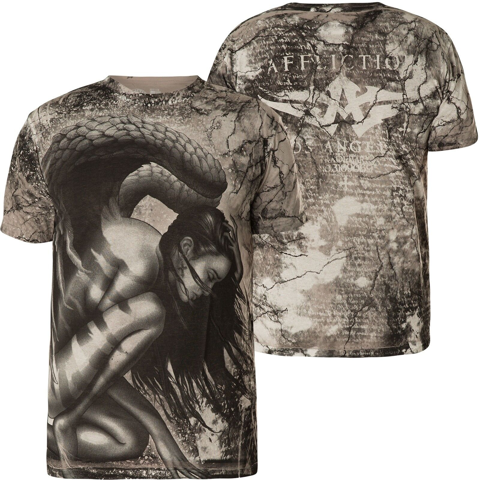 Affliction T-shirt Atonement Grigio T-shirts
