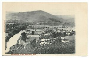 POSTCARDS-SCOTLAND-DUMFRIESSHIRE-Langholm-PTD-Langholm-from-Heathery-Hill