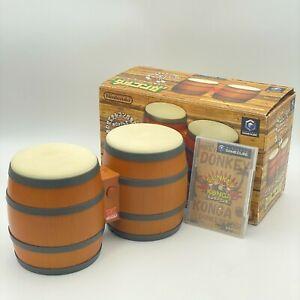 Nintendo Gamecube DONKEY KONGA BONGOS Drums plus Game CD JAPAN Donkey Kong