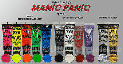 Choose Your MANIC PANIC  Dye Hard Temporary Hair Color Styling Gel 1.66 Oz NEW