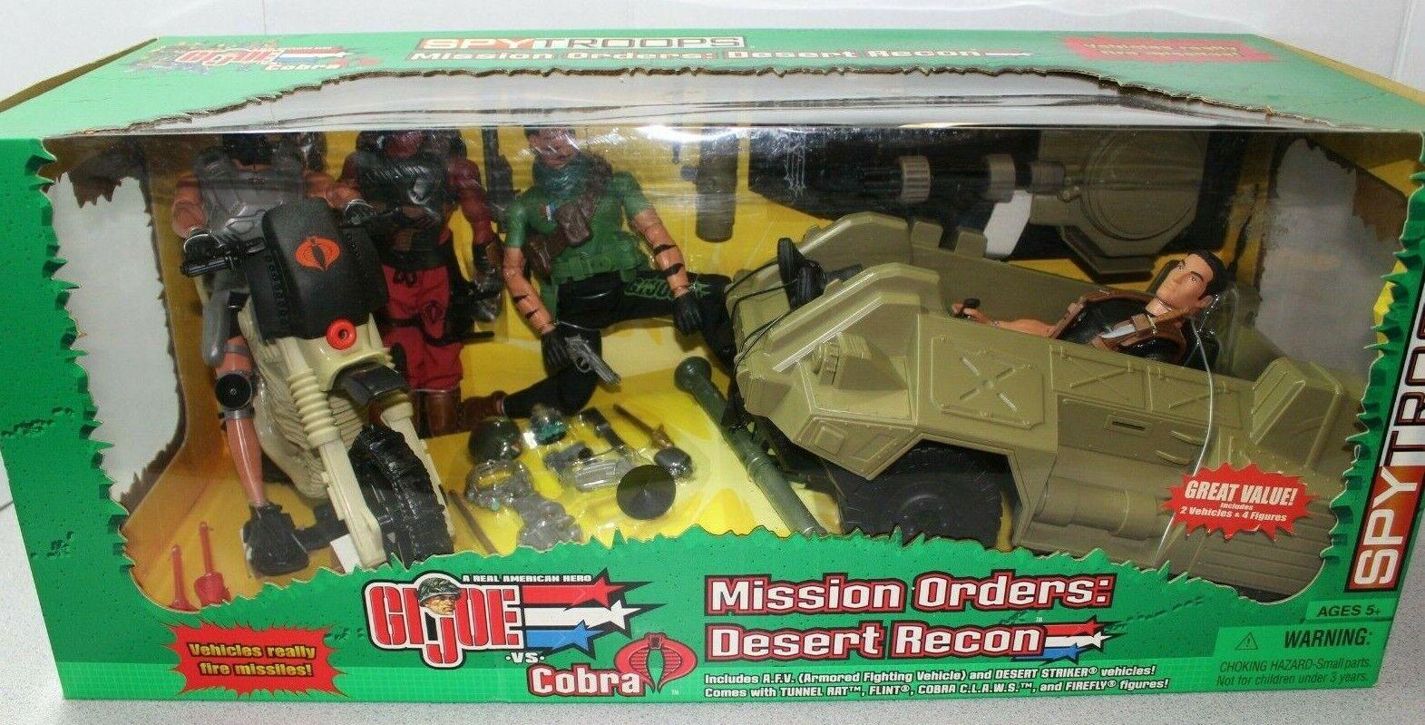 GI Joe Mission Orders  Desert Recon 2 Vehicles & 4 12 inch figures