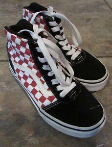 Vans Canvas High Top Checkerboard Skate