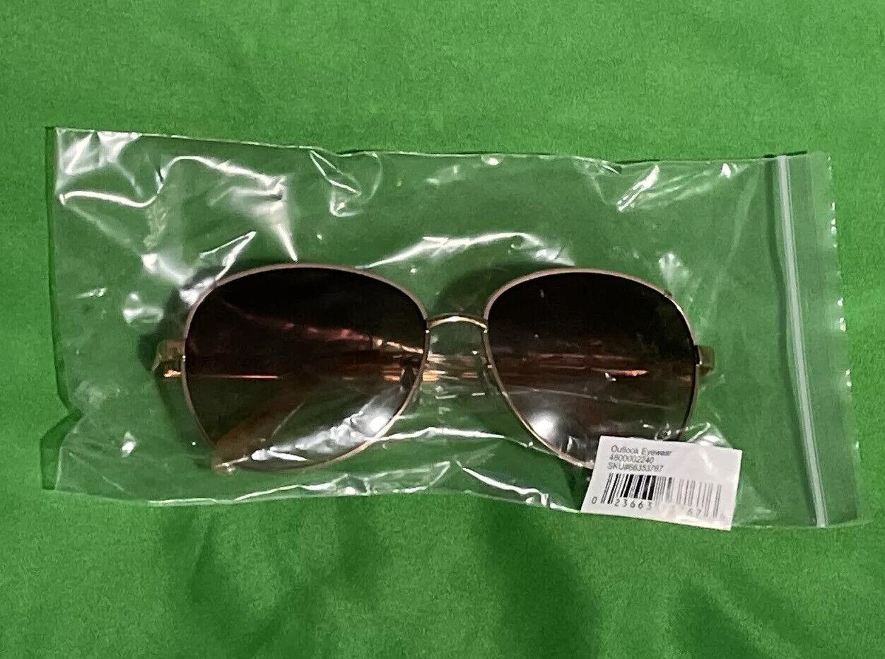 Fossil Women's Rose Gold Aviator Sunglasses Outlook Eyewear 000000000066353783