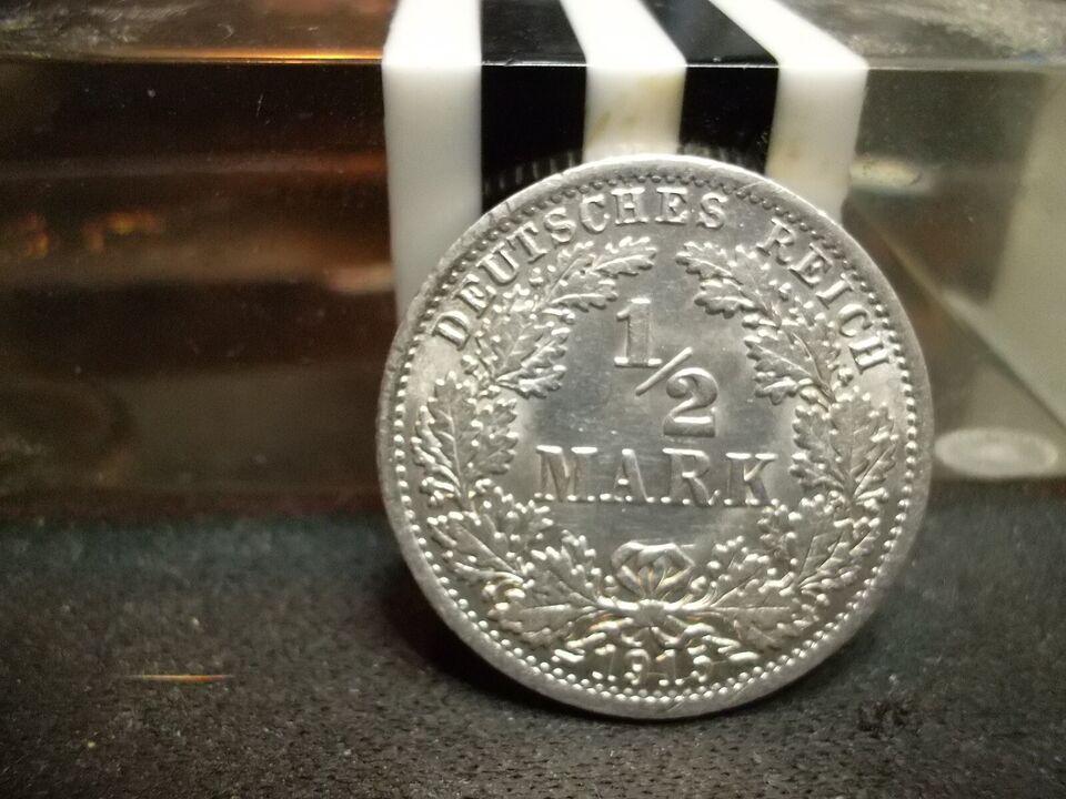 Vesteuropa, mønter, ½ Mark