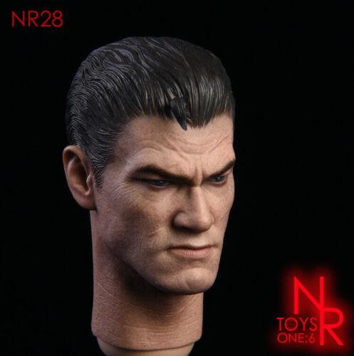"""NRTOYS 1//6 Punisher NR28 Frank Castle Head Sculpt PVC Toy Fit 12/"""" Action Figure"""