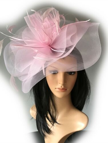 STUNNING HOT PINK CRIN HATINATOR HAT WEDDINGS ASCOT FORMAL MOTHER OF THE BRIDE