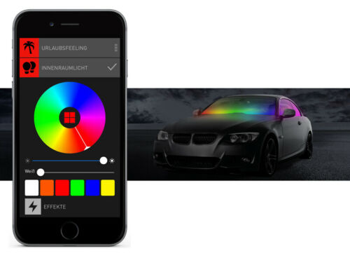 BEPHOS® RGBW LED Beleuchtung Innenraum Ford Focus III APP Steuerung