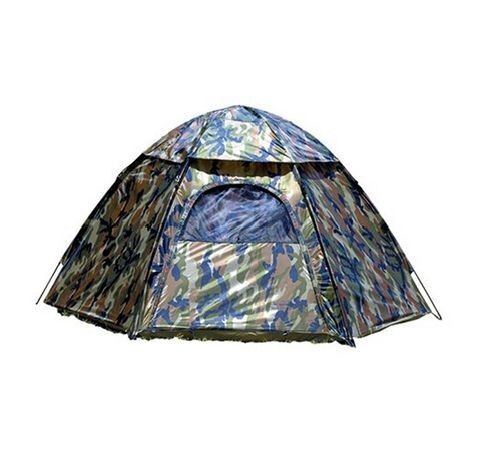 Camping Hexagon Tent Camp Camo Camouflage Gear Army Military Window Easy Setup