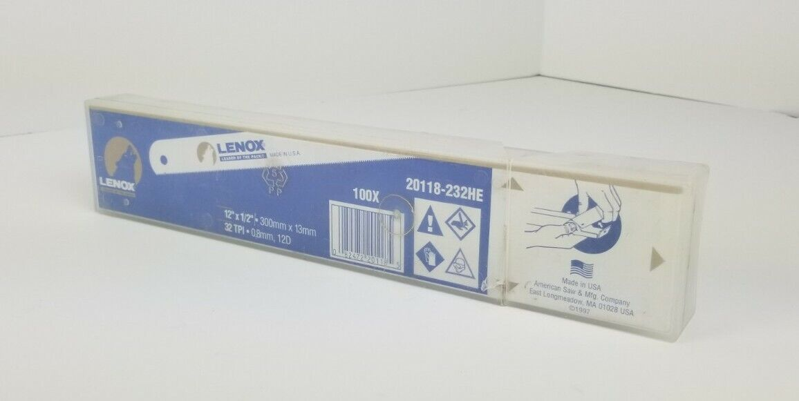 (100-PACK) LENOX 20118-232HE Hacksaw Blade 12 In x 1/2 in, 32 TPI Hackmaster